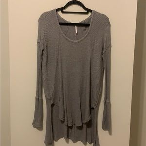 Free People Slouchy Tunic - Gray